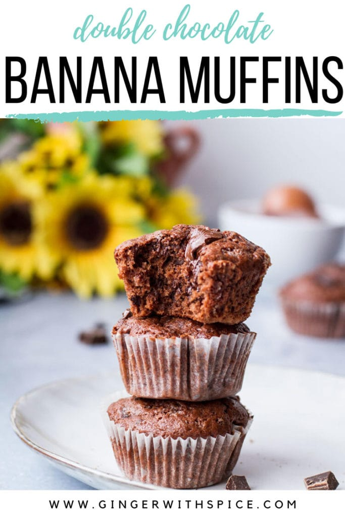 Simple Pin with one muffin image from post and text overlay at the top. Pinterest pin.