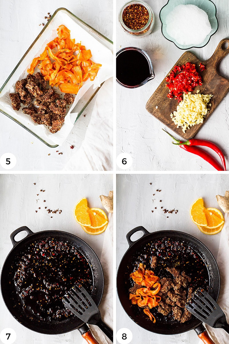 Steps to make the chilli sauce.