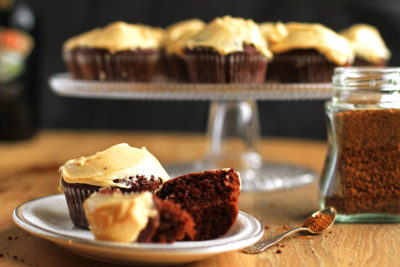 Chocolate Coffee Cupcakes with Irish Baileys Frosting