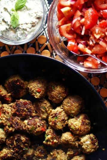 Indian Style Kebabs with a Fresh Tomato Salad