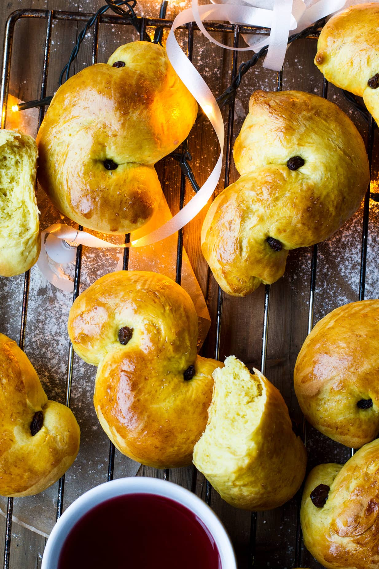 Saffron Buns for St. Lucy's Day