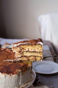 Decadent Tiramisu Cake with White Chocolate Mousse