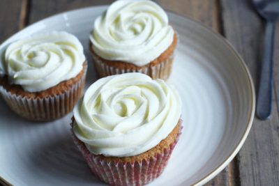 Light As Air Carrot Cake Cupcakes with Cream Cheese Frosting