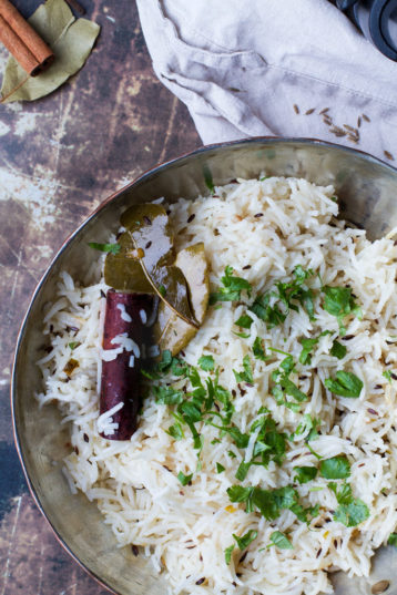 Indian Rice with Cumin and Spices (Jeera Rice)