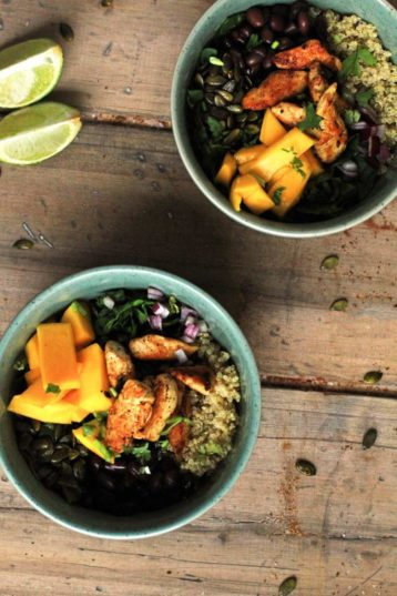 Mango Chipotle Quinoa Bowl with Lime Chicken