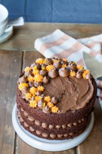 Chocolate Orange Cake with Buttercream Frosting