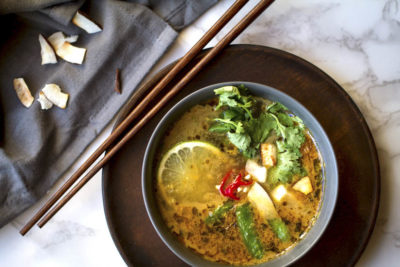Vegan Thai Lemongrass Noodle Soup