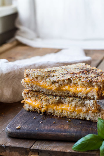 Everything Parmesan Crusted Grilled Cheese