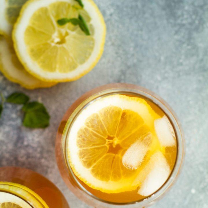 Ginger Lemon Iced Tea