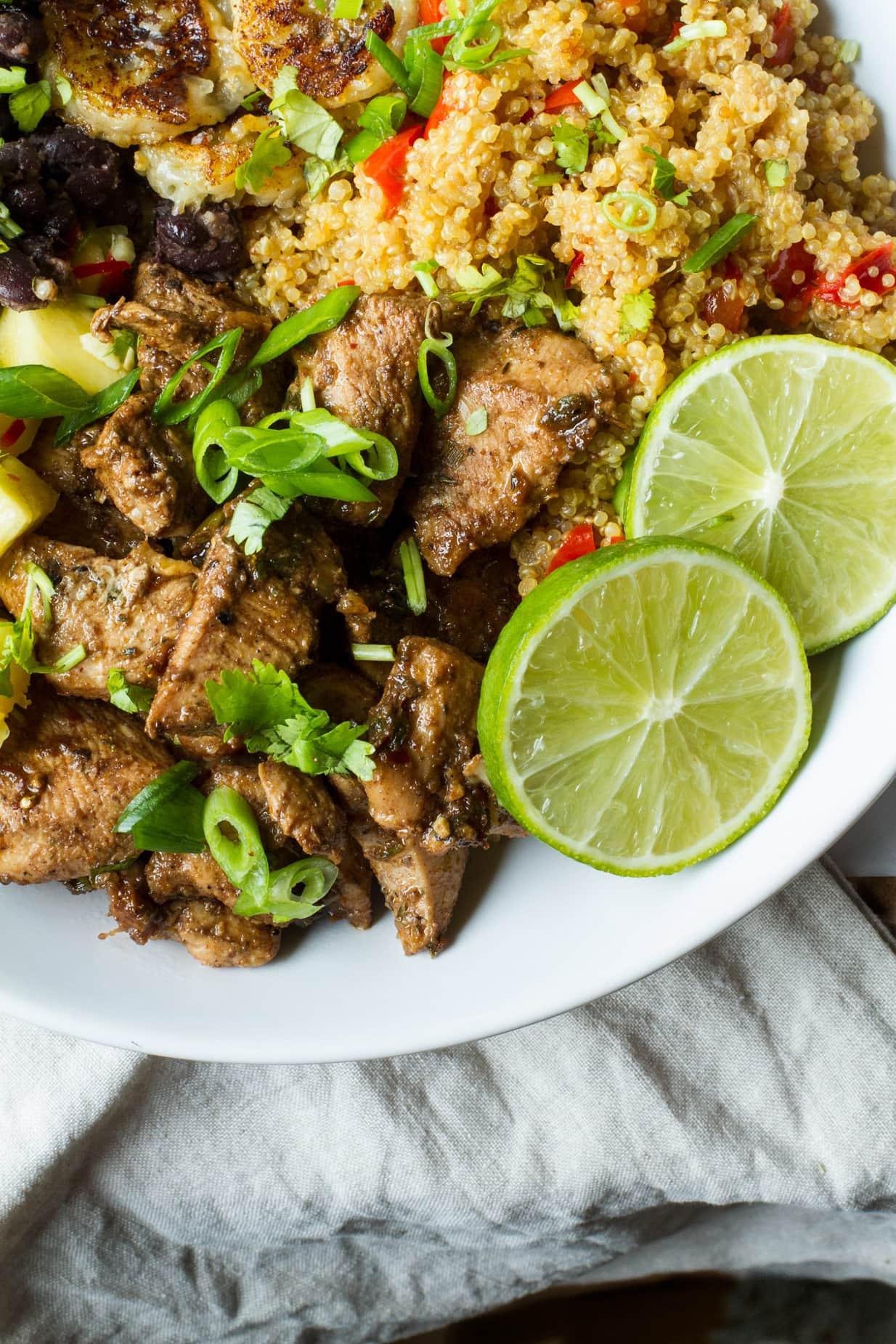 Jamaican Jerk Chicken Quinoa Bowl