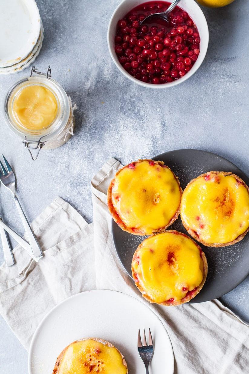 Red Currant and Lemon Curd Brûlée Tart