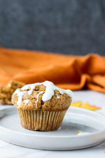 Pumpkin White Chocolate Muffins with Crumb Topping