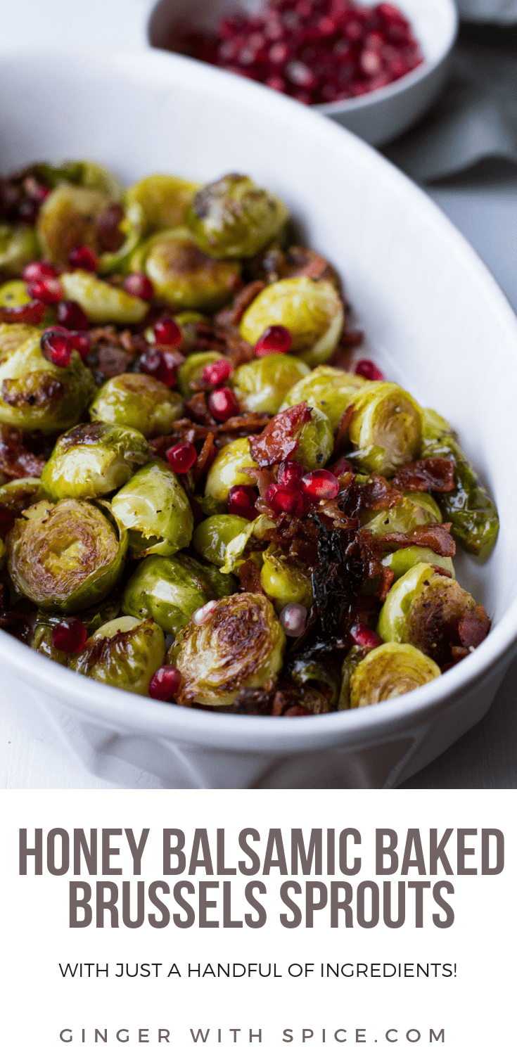 Honey Balsamic Baked Brussels Sprouts