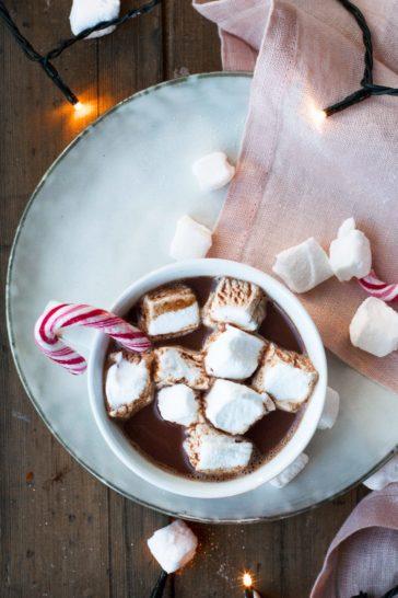 Homemade Fluffy Peppermint Marshmallows