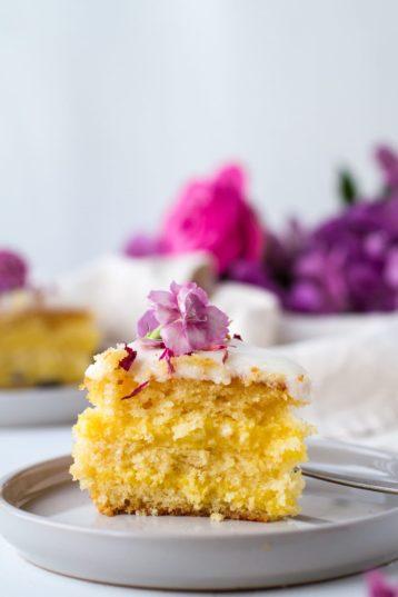 Lemon Ricotta Cake with Dreamy Vanilla Pastry Cream