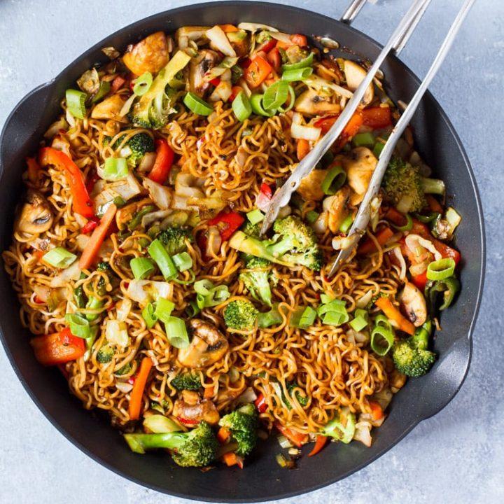 Skillet of Vegetarian Lo Mein