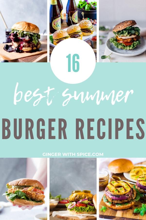 Best Summer Burger Recipes Pinterest Pin.