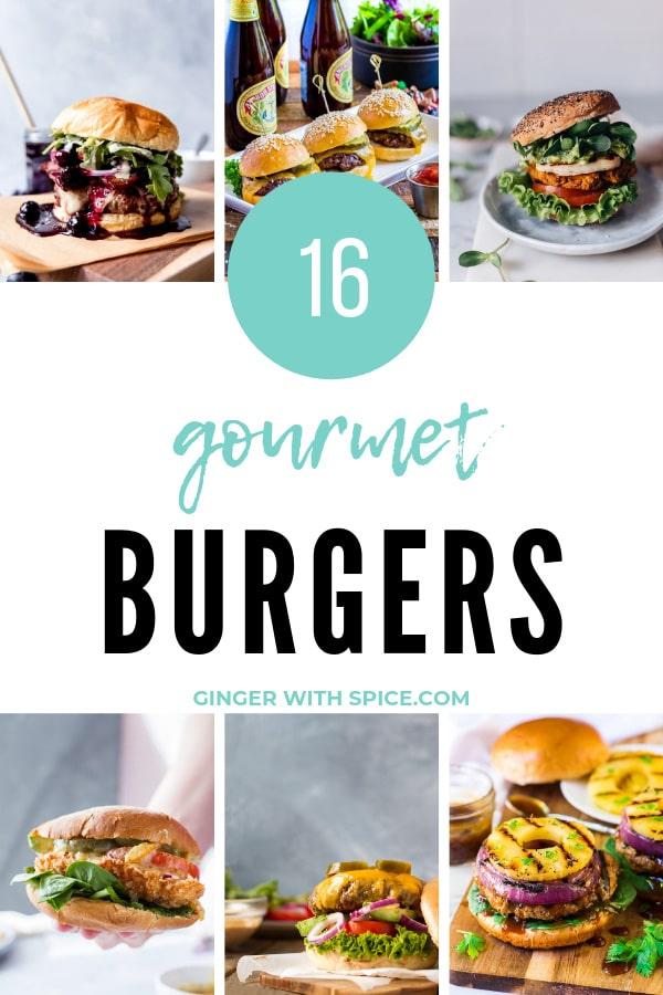 Gourmet Burgers Pinterest Pin.