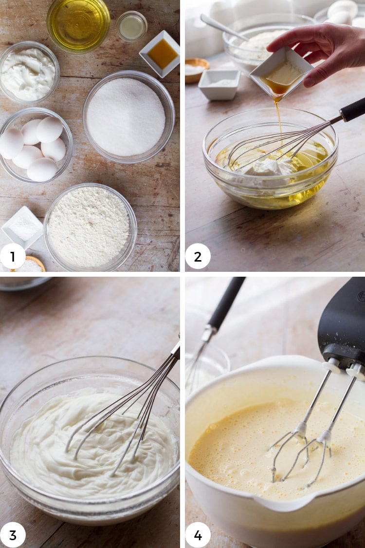 Step by step on whipped eggs and sugar.