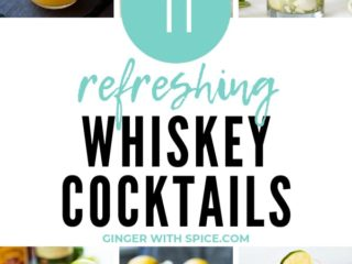 Collage of several whiskey cocktails for St. Patrick's Day