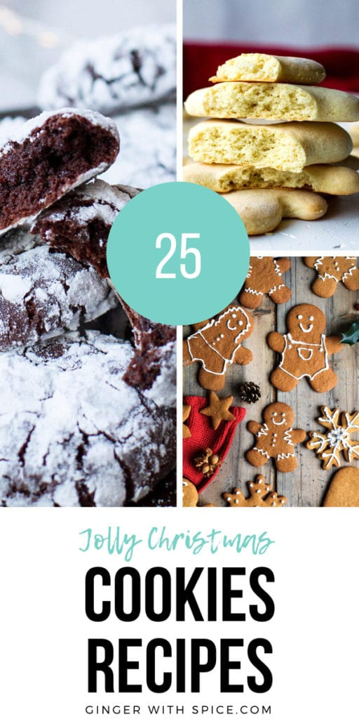 Pinterest pin with text overlay and 3 cookie recipes.