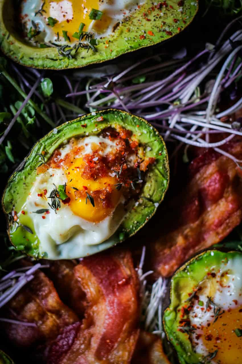 Baked Eggs in Avocado Half.