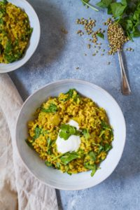 Ginger Coconut Lentil Curry (Easy Vegan Recipe)