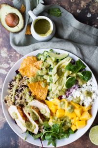 Mexican Inspired Mango Salad with Avocado Dressing