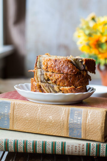 Healthy Honey Banana Bread with Cinnamon Swirl