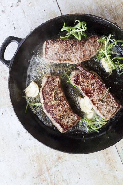 Garlic Rosemary Buttered Steak (How to Cook Steaks)