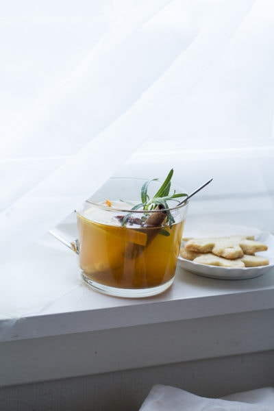 Chai Whiskey Hot Toddy with Spiced Orange Honey