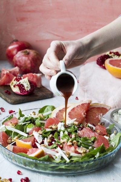 Fennel Grapefruit Salad with Pomegranate Vinaigrette