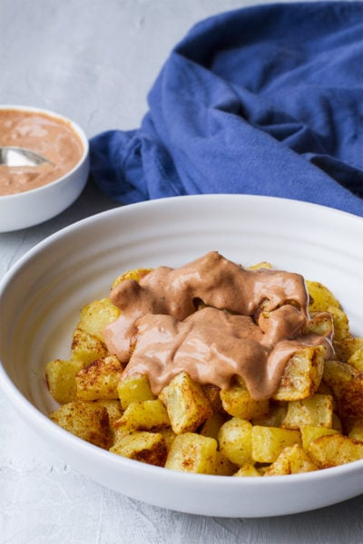 Patatas Bravas Spanish Potatoes + Spicy Tomato Aïoli