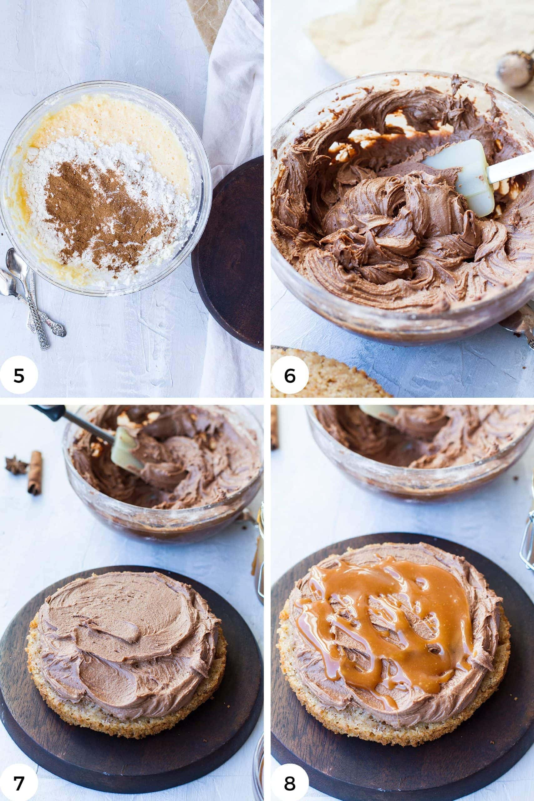 Steps to make the coffee buttercream.