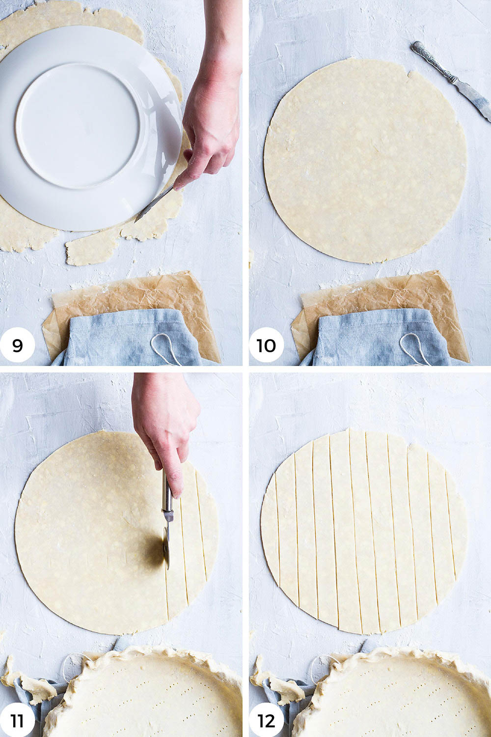 Steps to make the lattice top.