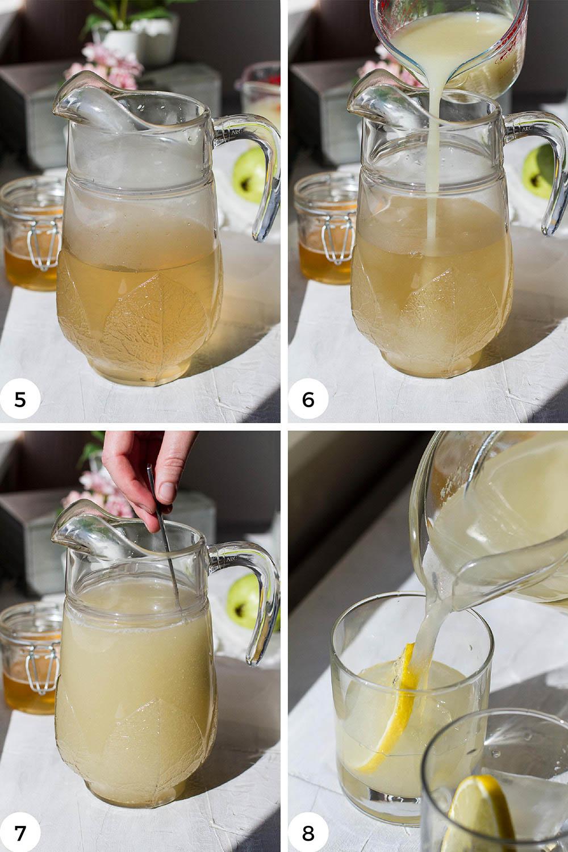 Steps to make guava white tea.
