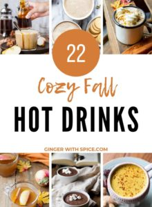 22 Cozy Hot Drinks for Fall Pinterest Pin 3.